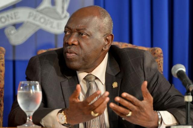 Minister of Health, Dr Fenton Ferguson