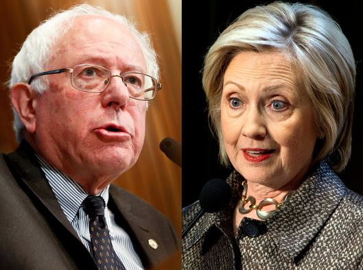 Democratic candidates Bernie Sanders (left) and Hillary Clinton vie for black voters with eye toward critical southern states