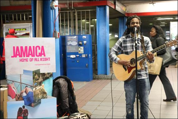 Independent reggae artist, Lion Melta, provided live entertainment and thrilled passersby with a number of acoustic reggae hits.