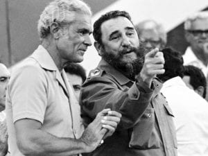 Michael Manley and Fidel Castro on a state visit to Jamaica.