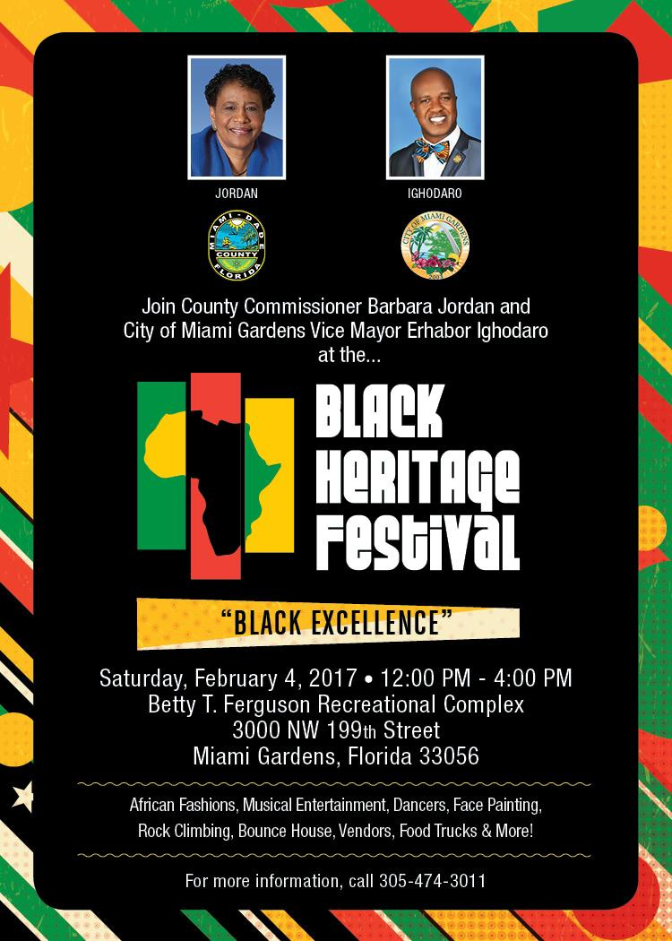 City of miami gardens to host a black heritage festival caribbean news for City of miami gardens