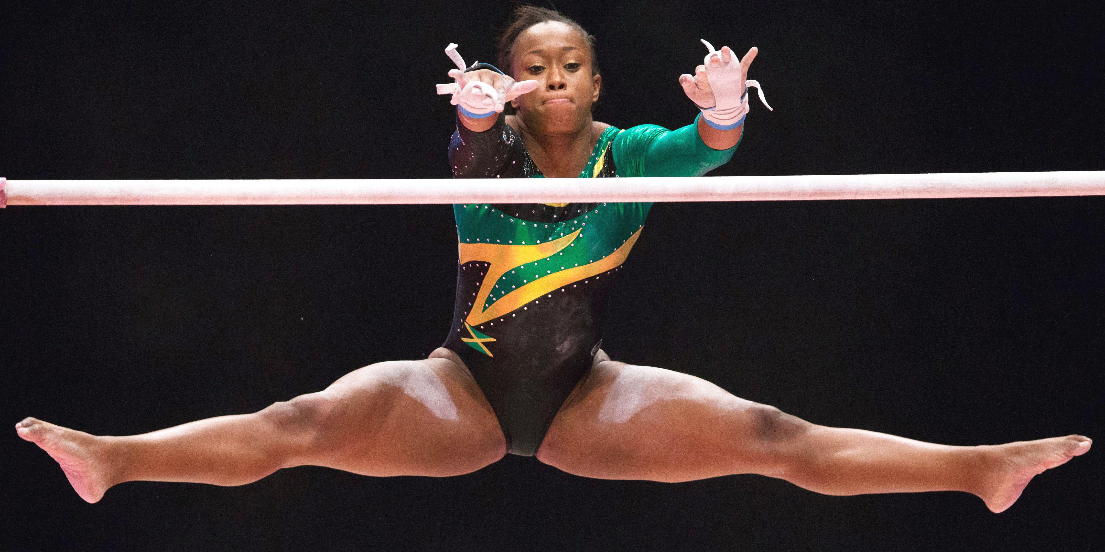 Naked Gymnast Huge Boobs