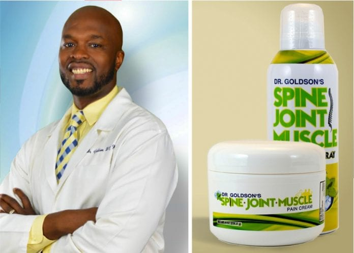 Dr. Goldson's Spine, Joint, Muscle Pain cream