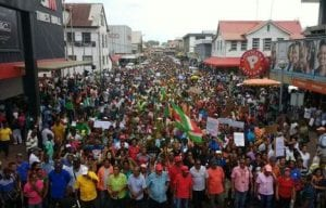 Mass Protest in Suriname