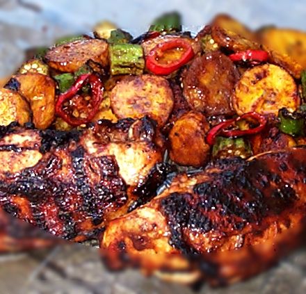 Recipe jerk chicken breast caribbean news jerk chicken breast for 4 people forumfinder Image collections
