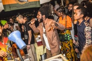Chronixx belts out one of his hits at the Dub Club