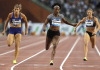 Elaine Thompson winning race - Caribbean National Weekly News