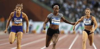 Elaine Thompson winning race - Caribbean National Weekly News