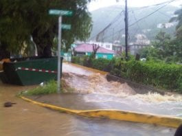 Flood rains wreak havoc in the British Virgin Islands