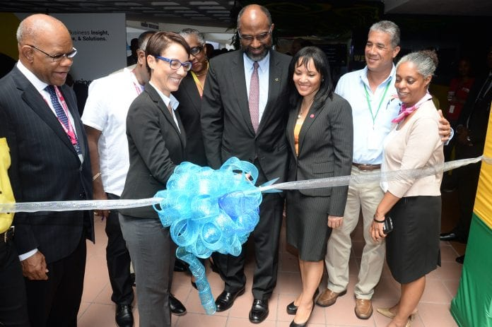 Kamina Johnson Smith opens the marketplace at the Diaspora Conference - Caribbean National Weekly News