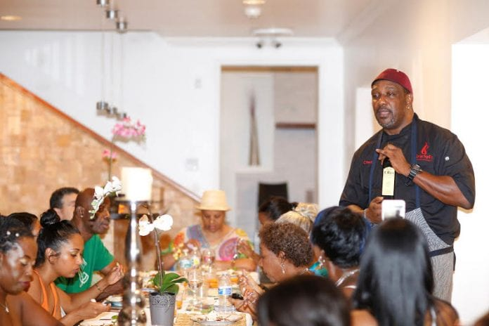 Chef Irie teaching a class - Caribbean National Weekly News