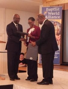 Jamaican leader Baptist World Alliance honored