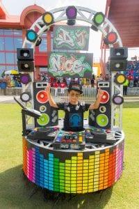 Nicholas Shand portraying DJ Nico