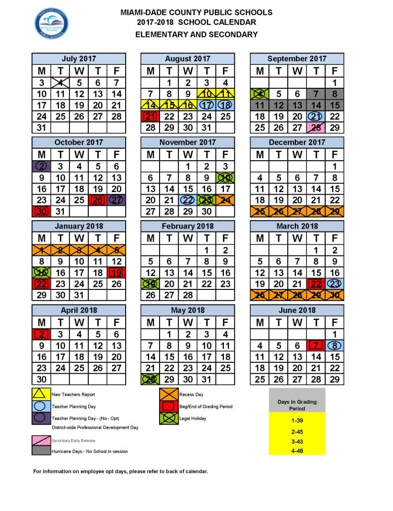 Miami Dade County School Calendar 2019 Miami Dade revised school calendar   Caribbean News