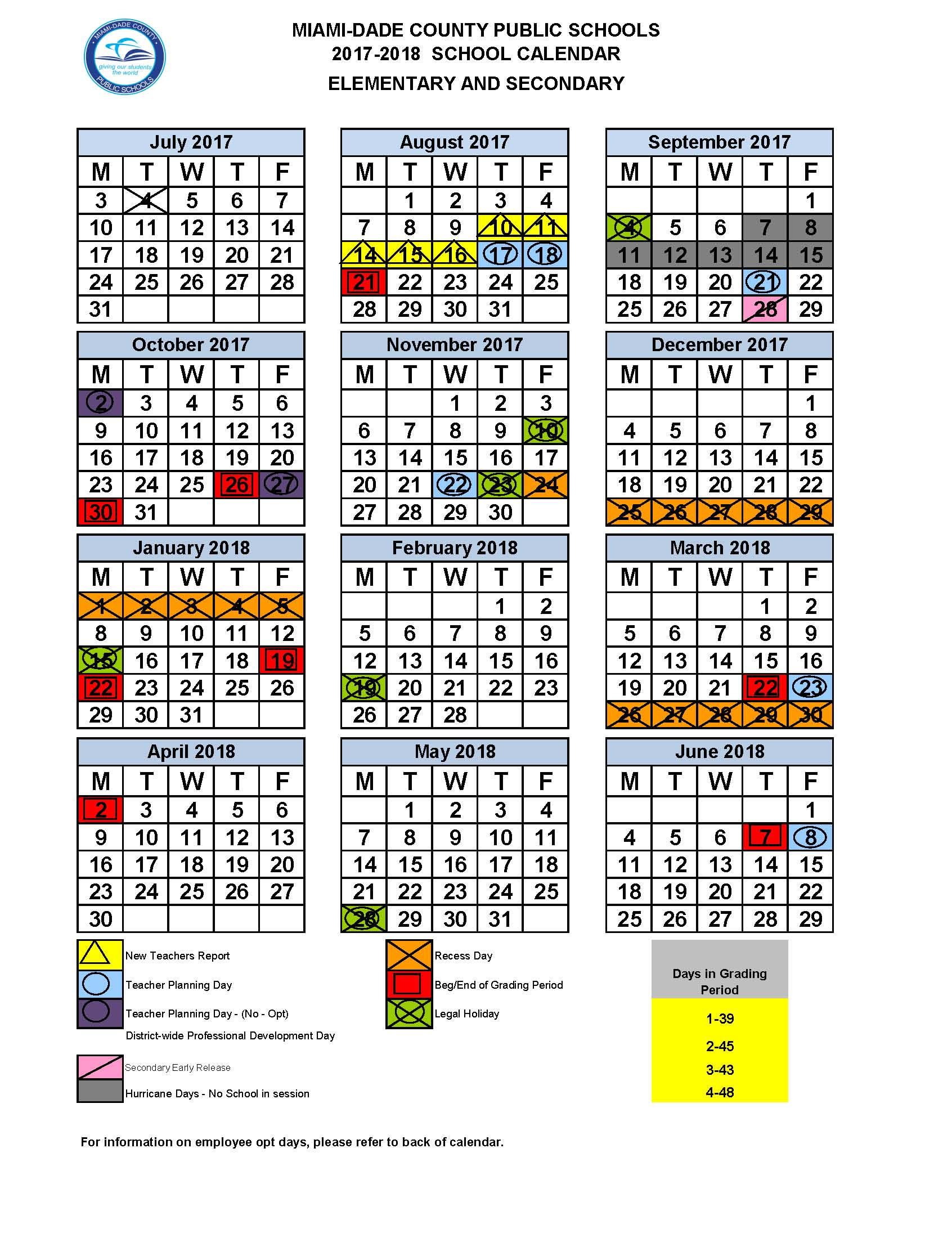 2019 Miami Dade School Calendar Miami Dade revised school calendar   Caribbean News