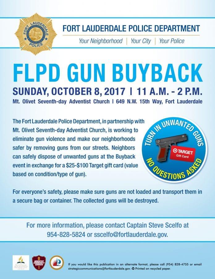 FLPD to hosts gun buy back