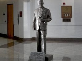 Broward statue to be removed and stored