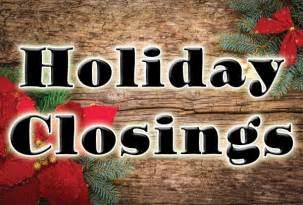 holiday closings