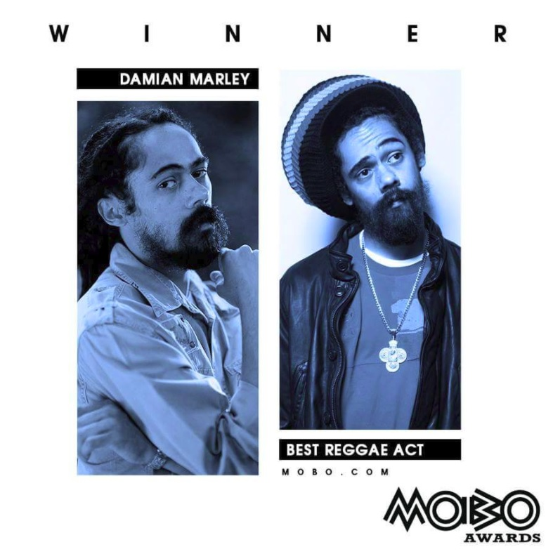 Damian Marley wins Best Reggae Act at MOBO Awards