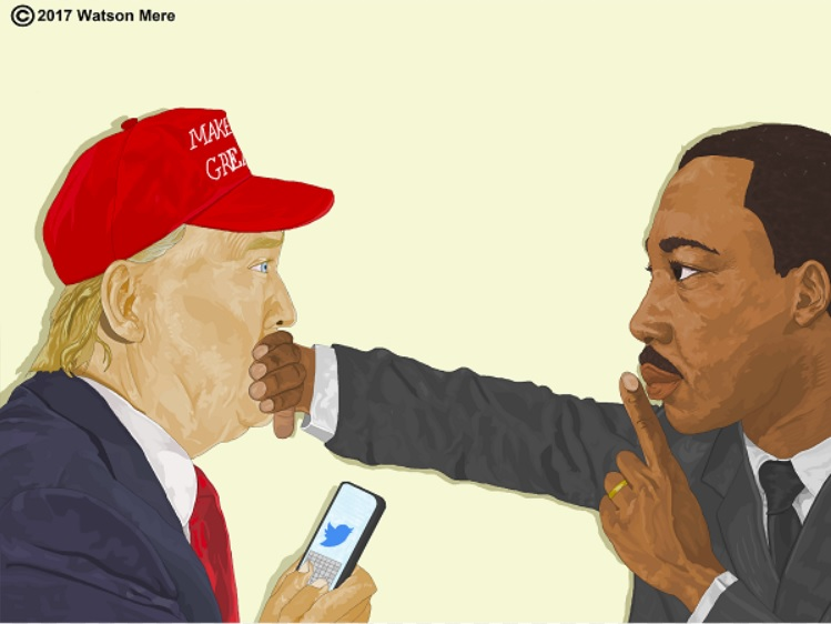 Florida Artist Watson Mere S King Trump Illustration Goes Viral