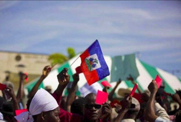 Haiti US embassy protest