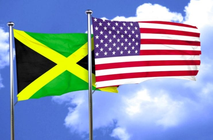 Jamaica US flag