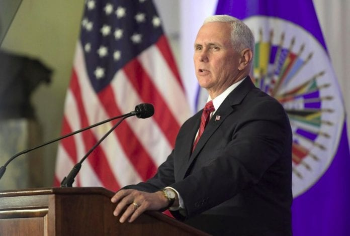 Pence at OAS