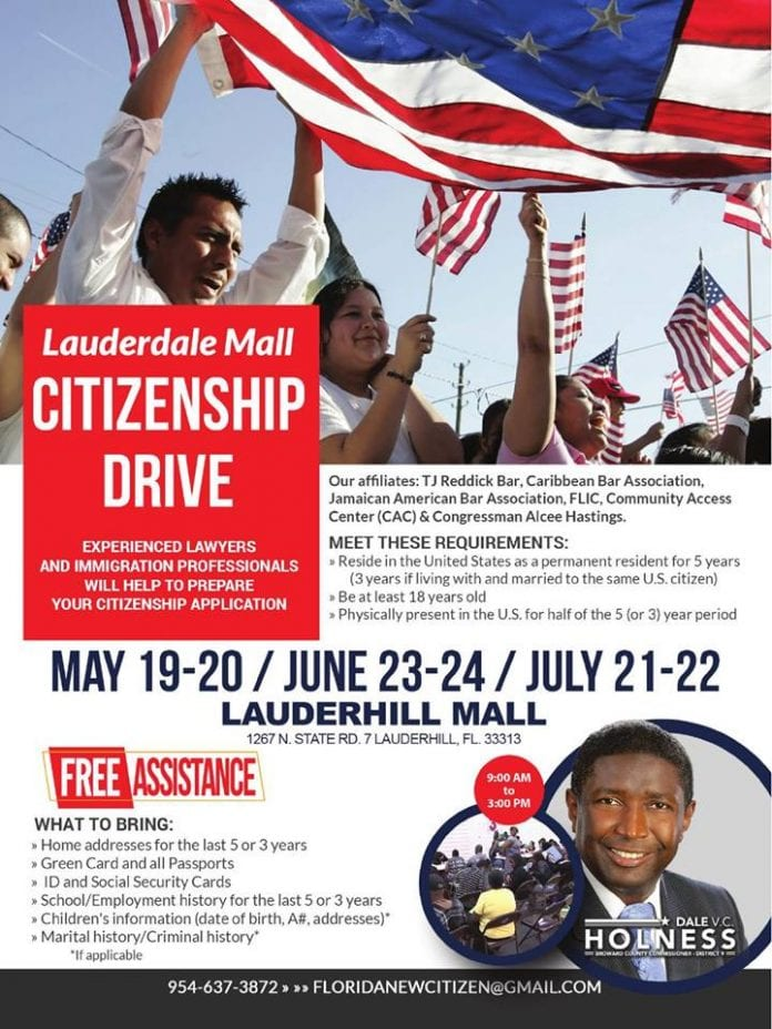 Lauderhill Mall Citizenship Drive