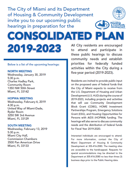 Consolidated Plan 2019-2023