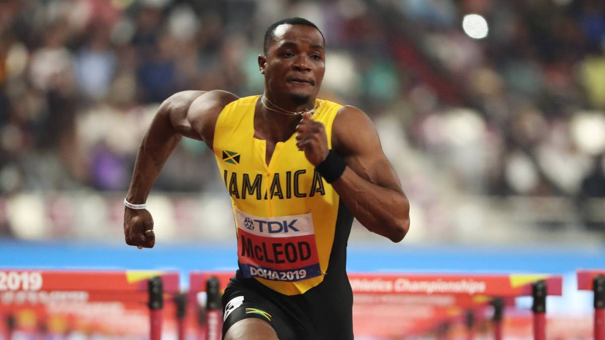 Jamaica Omar McLeod and Bahamas Tynia Gaither Come Short in 200m