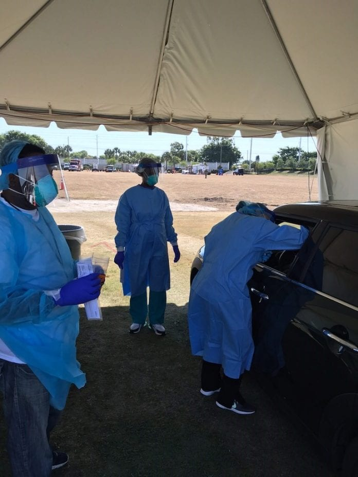 more than 2 000 people tested at palm beach county u0026 39 s covid