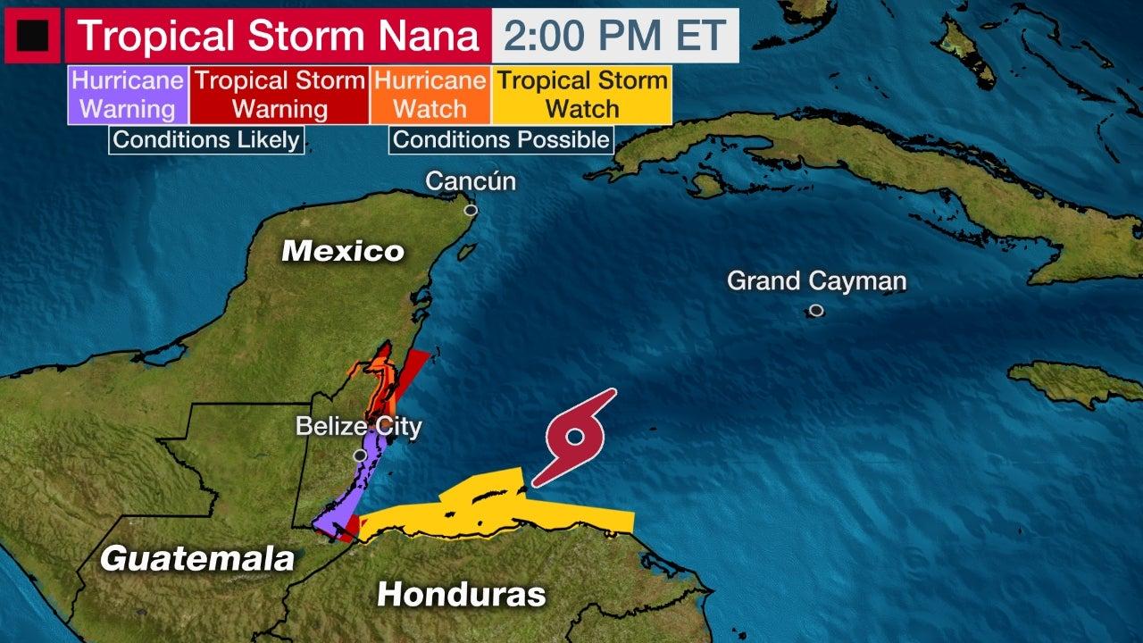 Tropical Storm Nana Forecast To Become A Hurricane As It Nears Belize Caribbean News