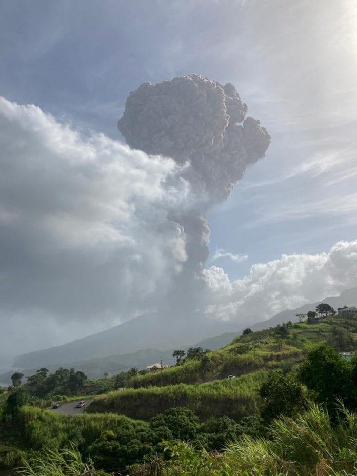 volcano eruption st vincent