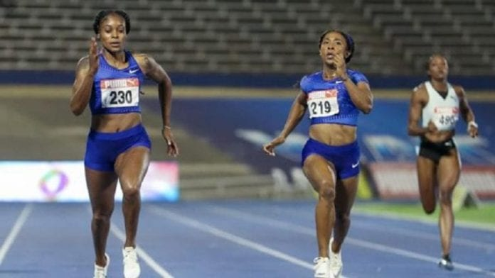 100m fraser-pryce and thompson
