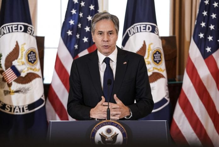 united states secretary of state antony blinken