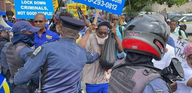 jamaica protest